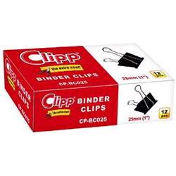 Clipp Binder Clip 25mm-12 Pcs/Pkt