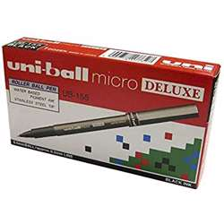 Uni-Ball Uni Micro Deluxe Roller Pen-12 Pcs/Pkt preview