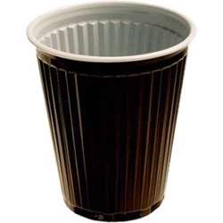 MPC Plastic PP Cup Brown & White 2oz - 70Dia. -  2000pcs preview