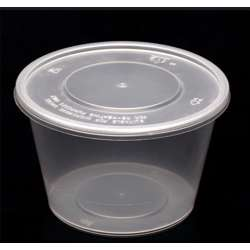FP Microwave Clear Round Container With Lid 450ml - 500pcs preview