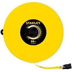 Stanley STHT34298-8 Closed Case Fibeglass M.Tape 50Mx10mm Metric