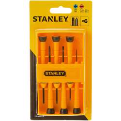 Stanley STHT66052-8 6Pcs Bi-Mat Precision Screw Driver Set