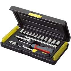 Stanley 2-85-582 17Pcs 1/4in Micro Tough Socket Set4 - 5 - 5.5- 6 - 7 - 8 - 9 - 10 - 11 - 12 - 13mm