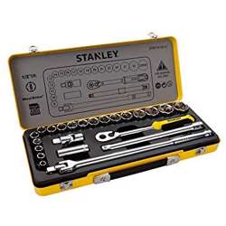 Stanley STMT74184-8 Classic Metal Case 24Pcs 1/2in 12Pts Socket Set