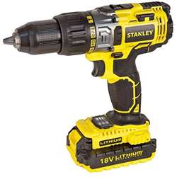 Stanley STDC18LHBK-B5 18V 2Ah Li-Ion Hammer Drill With 2 Batteries
