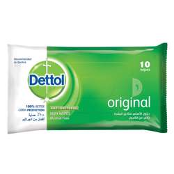 Dettol Anti-Bacterial Skin Wipes 10'sx40 Pkt