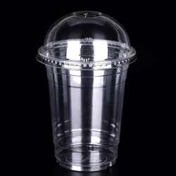 MPC PET Juice Cup Clear With Dome Lid 88.5mm -14oz- 1000pcs