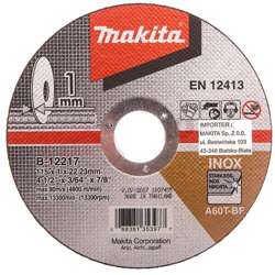 Makita B-12217 Thin Cutting Wheel A60T 115mm PK10