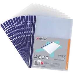 Rexel NPR/A4 12231 Reinforced Pockets PK/100