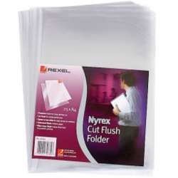 Rexel PFC/A4 12153 Nyrex Cut Flush Folder, A4 (Pack of 25)