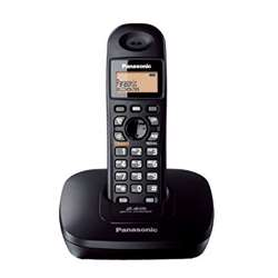 Panasonic KX-TG3611 Cordless Telephone, 19cm - Black