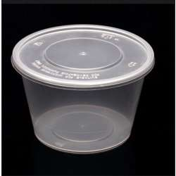 FP Microwave Clear Round Container With Lid 500ml - 500pcs