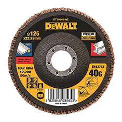 Dewalt DT30611-QZ High Performance Flap Disc - Type 27 Flat 115mm 60 grit