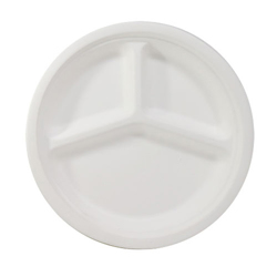 Detpak Bio Based Bagasse Plate - 3 Compartment