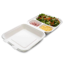 Detpak Bio Based Bagasse Box - 3 Compartment