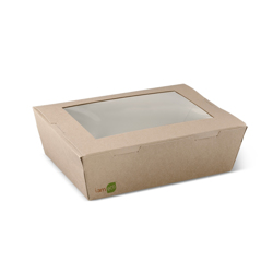Detpak I Am ECO Window Brown Lunch Box