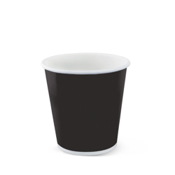 Detpak Black Single Wall Hot Coffee Cup