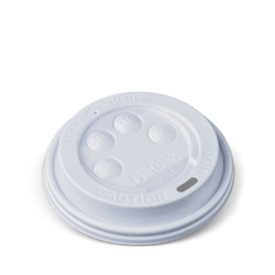 Detpak White Hot Cup Button Lid