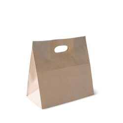 Detpak Brown Paper Take Away Bag With Die Cut Handle