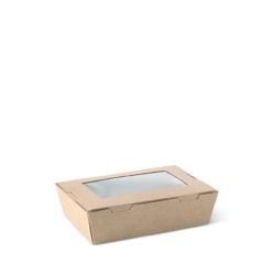 Detpak Window Brown Lunch Box