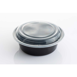 Galaxy Pack Black Hd Round Container With Lid