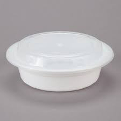 Galaxy Pack White Hd Round Container With Lid