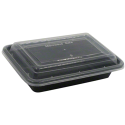 Galaxy Pack Black Hd Rectangle Container With Lid