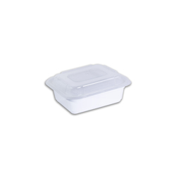 Galaxy Pack White Hd Rectangle Container With Lid