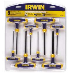 Irwin T10771 T-Handle Hex Key Set; 2-10mm; 8Pcs