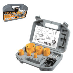Tolsen 9Pcs Bi-Metal Hole Saw Set - 75861