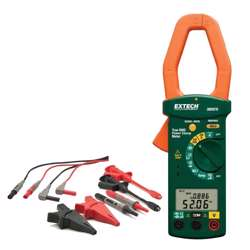 Extech 380976-K Single Phase/Three Phase 1000A AC Power Clamp Meter Kit