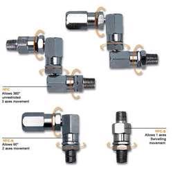 Groz HCF/1-4F/1-8M/B Grease Swivel 1/4 Bspt-F X 1/8 Bspt-M