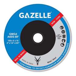 Gazelle GMG4.5-Rapid Metal Grinding Disc 4.5in - 115 x 6 x 22mm Rapid