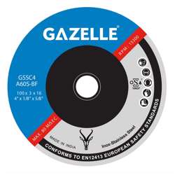 Gazelle GSSG7 Stainless Steel Grinding Disc 7in - 180 x 6 x 22mm