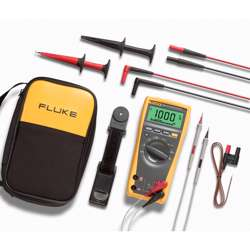 Fluke 179/EDA2/EUR True RMS Digital Multimeter and Deluxe Accessory Combo Kit