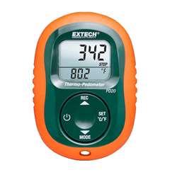 Extech PD20 Thermo-Pedometer 14 to 122&deg