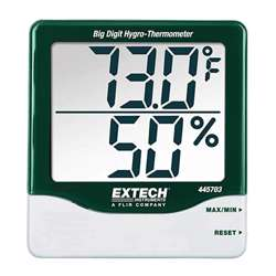 Extech 445703 Big Digit Hygro-Thermometer - Super Large LCD