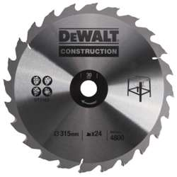 Dewalt DT1163-QZ CIRCULAR SAW BLADE ATB 10 degree 250 X 30MM 24T