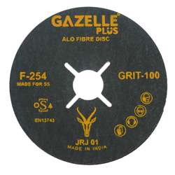 Gazelle F254/4.5/80 COATED FIBRE /SANDING DISCS 4.5in - 115mm x 80G - SS