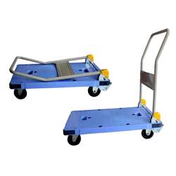 Gazelle GPT300 PlatformTrolley - PU Bed w/Folding Handle Constructed from injection molded reinforced plastic