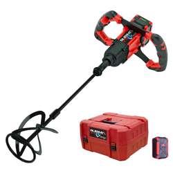Rubi 26965 18V Cordless Electric Paddle Mixer Brushless Motor 50-60 hz, Rubimix E-10 Energy