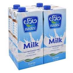 Nadec Uht Full Fat Long Life Milk 1L x Pack of 12
