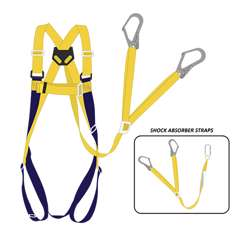Tuf-Fix Harsh094 Safety Harness Heavy Duty Brass Carabiner With Shock Absorber