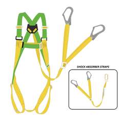 Tuf-Fix Sh006Sa017 Safety Harness With Double Hook Shock Absorber Yellow/Green