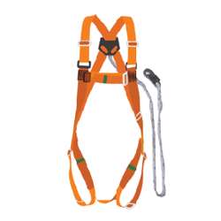 Tuf-Fix Sh064 Safety Harness With Big Stamping Hook Orange