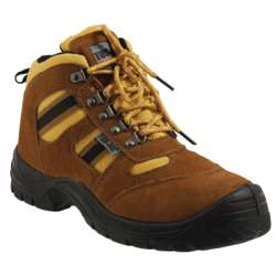 Tuf-Fix Safety Shoes Honey Color Size 43 (Steel Toe & Sole)