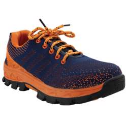 Tuf-Fix Mesh Material Orange Blue Coloured Low Ankle Size 41
