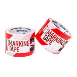 Beorol TZOCB Warning-separating tape red/white 75mm x 100m