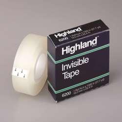3M 6200 Highland Tape 3/4x36 Yards Bxd