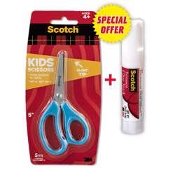 3M Kids Scissor With 8 Gram Glue Stick, Combo Pack